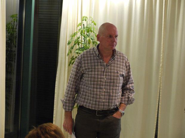 Andi Wicki bei seinem Referat über die Scheizergarde