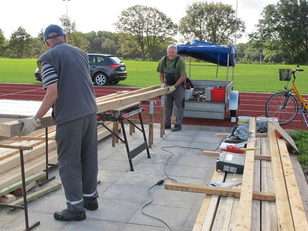 """26.9.2011 - Beginn der Bauarbeiten am """"Haus der Geest-Bouler""""."""