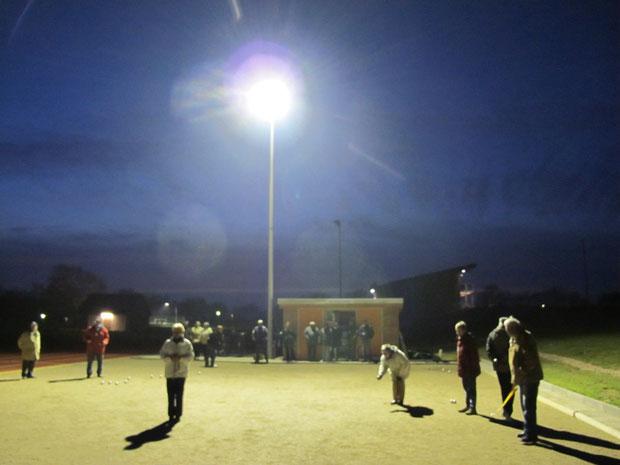 26.10.2011 - Boulespiel bei Flutlicht