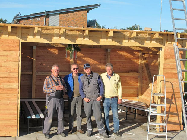 13.10.2011 - v.l. -  Die Mannschaft Manfred Habenicht, Peter Matzen, Dieter Kirchner und Horst Hansen