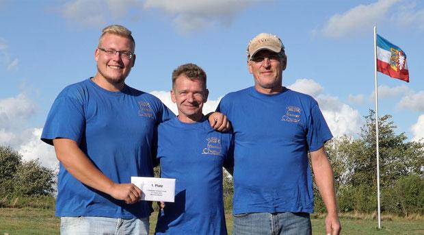 Turniersieger Breklumer Sommer-Turnier 2018 - v.l.: Henrik Hartwig, Thomas Schmidt und Gunnar Jensen