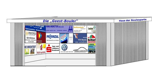 """Entwurf des """"Hauses der Geest-Bouler"""" mit Werbeflächen - Entwurf: Manfred Habeni´cht"""