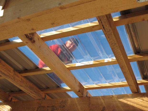 13.10.2011 Dachmontage mit Durchblick