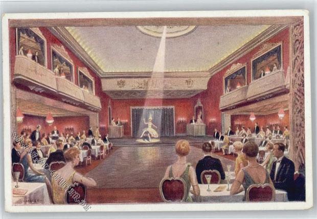 """Die """"Rote Mühle"""" in der Schmiedestraße gehörte zu den bekanntesten und größten Tanz- und Unterhaltungslokalen in Hannover. Während des Kriegs stark beschädigt, wurde es 1947 wiedereröffnet. Das Gebäude wurde 1971 abgerissen."""
