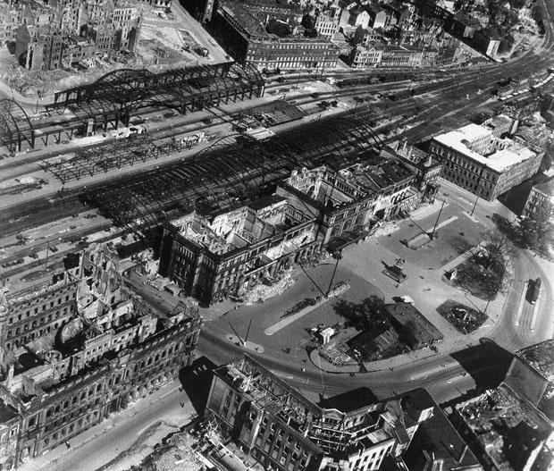 Der zerstörte Hauptbahnhof