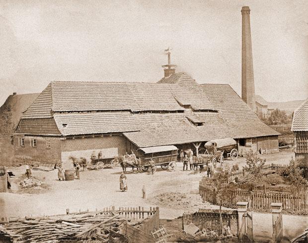 Die Scheele-Brauerei in Anderten war die letzte Brauerei im Großen Freien. Die Aufnahme stammt aus dem Jahr 1880.