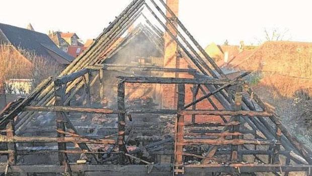 Auch dieser Brand am 28. Februar in Haimar ging vermutlich auf das Konto des mutmaßlichen Brandstifters