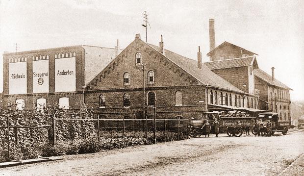 Das erneuerte Gebäude im Jahr 1922