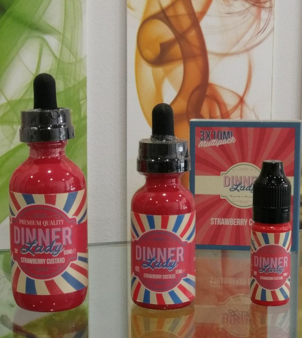 Dinner Lady - Strawberry Custard - TPD compliant - Made in UK