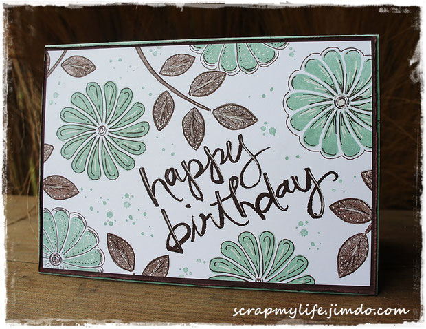 stampin up - crazy about you - watercolor words