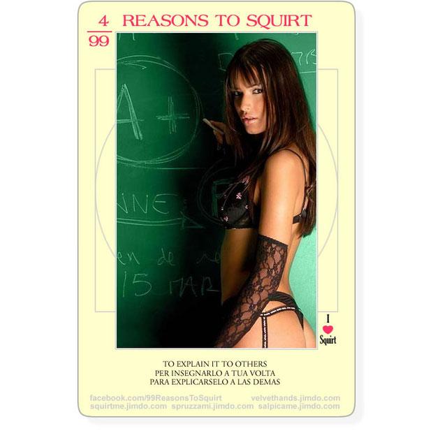 un motivo razonable para aprender el squirt? claro, para explicarselo a mis amigas