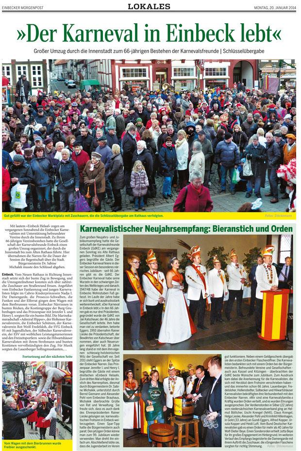 Text und Bilder: Einbecker Morgenpost