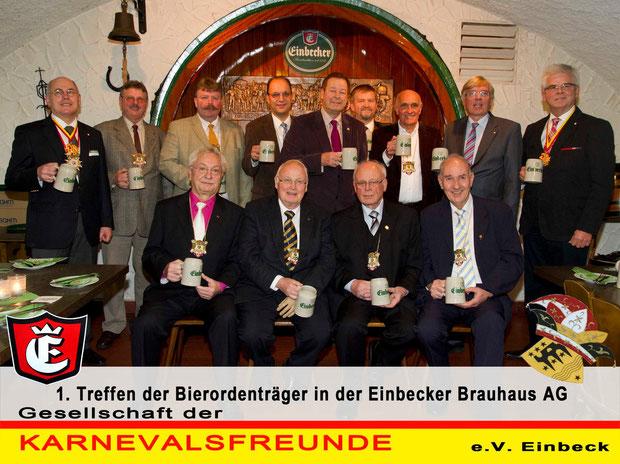 1. Treffen der Bierordenträger in der Einbecker Brauehaus AG
