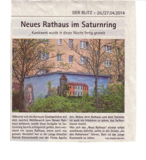Graffiti Wandgestaltung am Strom Trafohaus in Bernau