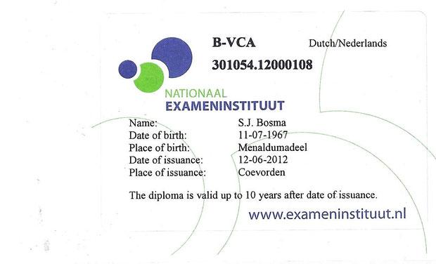 VCA geldig t/m 12-06-2022