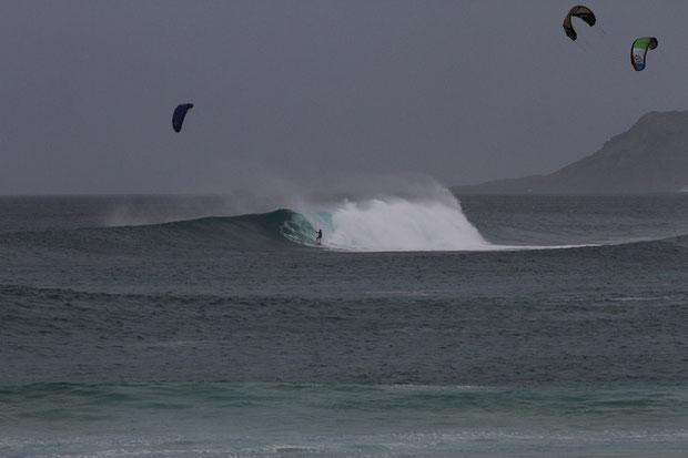 Ponta Preta von der Düne aus an einem big day...