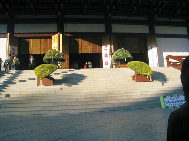 11月     大本堂前の菊懸崖