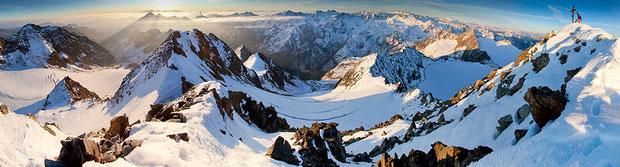 Am Gipfel der Ruderhofspitze