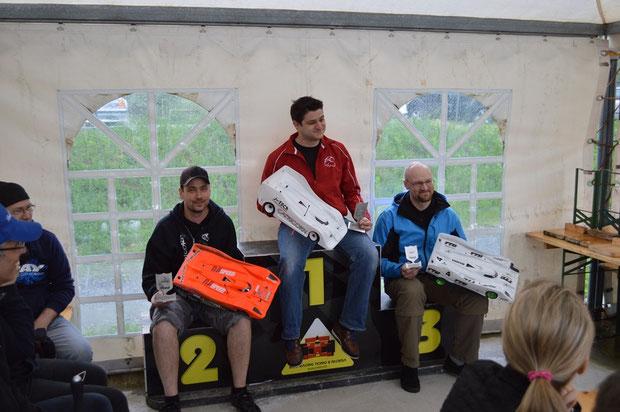 Die Sieger 1 Lauf Lostallo, Christian, Marco und Stefan, alle unterwegs mit Motoren, Regler und Lipos von TTB!