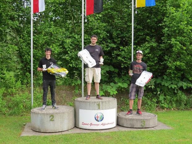 Die Sieger 3 Lauf Langenthal, Christian, Oliver und Markus, alle unterwegs mit Motoren, Regler und Lipos von TTB!