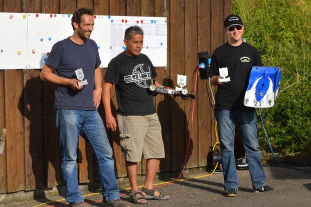 Die Sieger 6 Lauf Dogern, Frani, Patrick und André, alle unterwegs mit Motoren, Regler und Lipos von TTB!