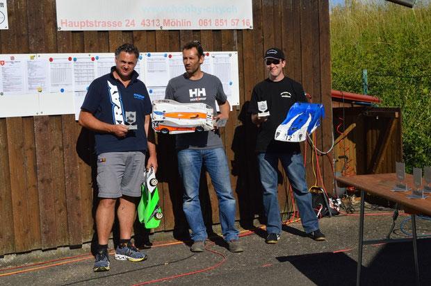 Die Sieger 5 Lauf Dogern, Patrick, Pietro und André, alle unterwegs mit Motoren, Regler und Lipos von TTB!