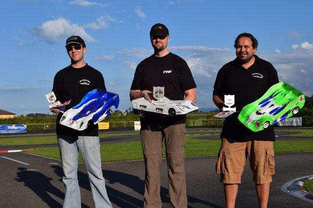 Die Sieger 9 Lauf Sitterdorf, André , Stefan und Martin, alle unterwegs mit Motoren, Regler und Lipos von TTB!