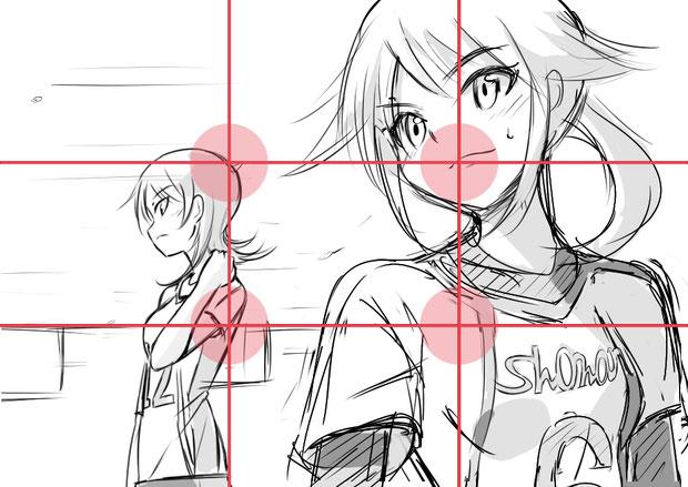 イラストを良く見せる 構図 を考えてみる 2 しがない絵描きの