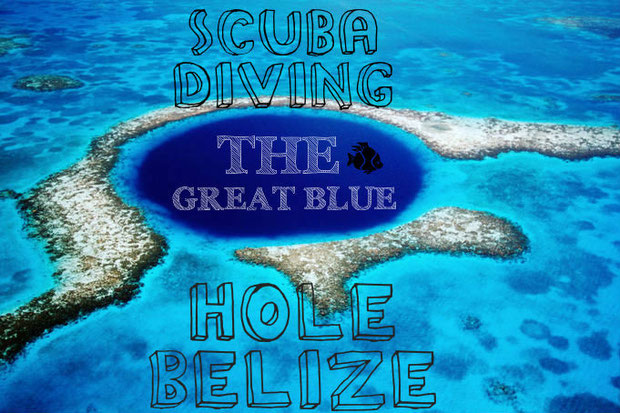 Scuba diving the great blue hole in Belize