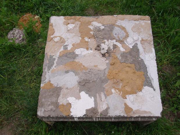 mud picture on concrete