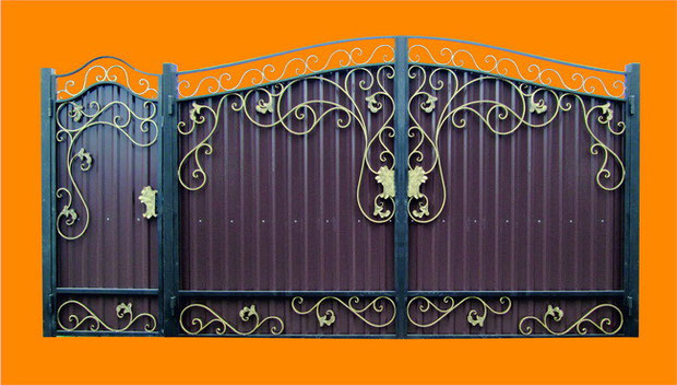 Распашные, выдвижные, красивые ворота.