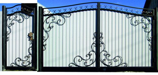 недорогие кованые ворота.