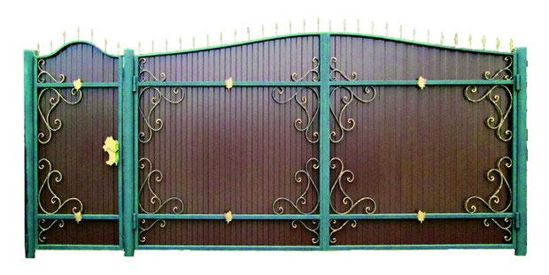 Распашные, выдвижные кованые ворота