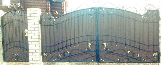 Ворота с элементами ковки цены.