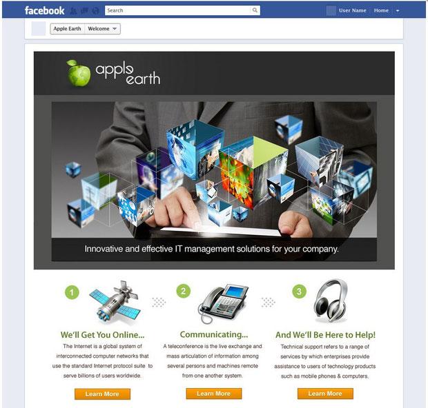 пример фейсбук страницы