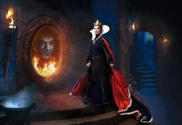 Оливия Уайлд и Алек Болдуин в качестве Злой Королевы