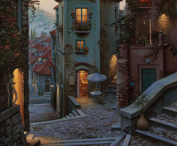 ночной город вид