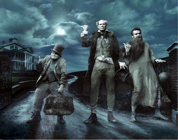 Джек Блэк, Уилл Феррелл, и Джейсон Сигел, в сказке Трех Призраков
