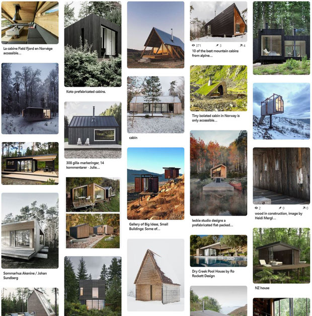 Cabin in the woods pinterest board by Heidi Mergl Architect