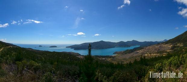 Neuseeland - Motorrad - Reise - traumhafte Motorradstrecken - Kenepuru Sound