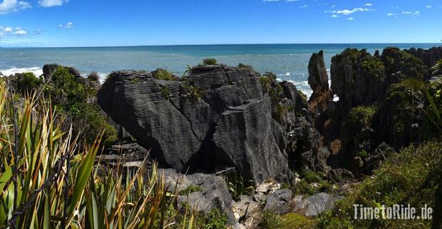 Neuseeland - Motorrad - Reise - Westküste - Pancake Rocks