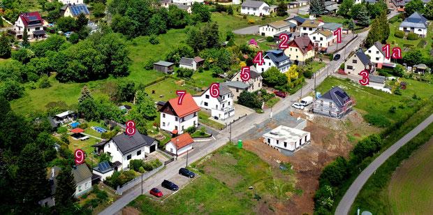 Bild: Wünschendorf Neunzehnhainer Straße Hausnummern
