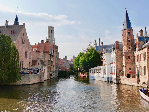 Belgien, Brügge Bürgerhäuser und Grachten