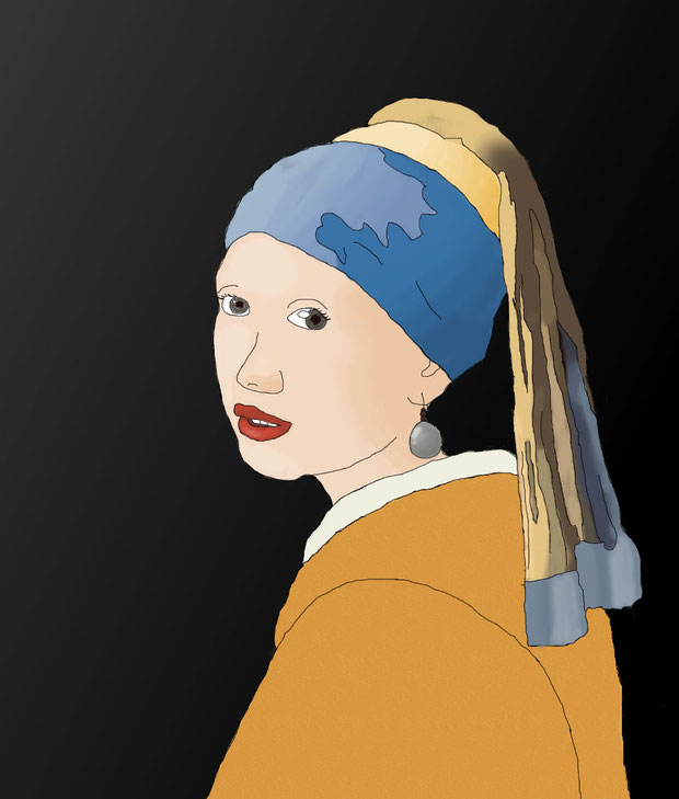 """Lady with the Pearl Earring"" - EmmalynG"