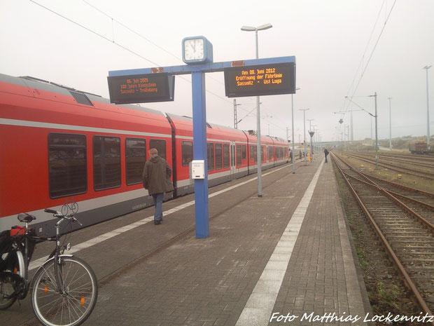 Dei Zielanzeiger Im Bahnhof Sassnitz-Mukran (Fährkomplex)