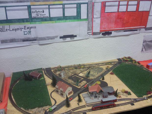 TT-Ausstellungsanlage / War noch Im Aufbau Gewesen