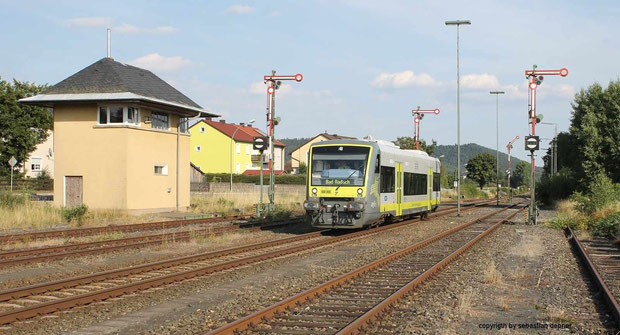 BR 650 Der Agilis am 14.8.12 in Pressath (Oberpfalz) nach bad Rodach
