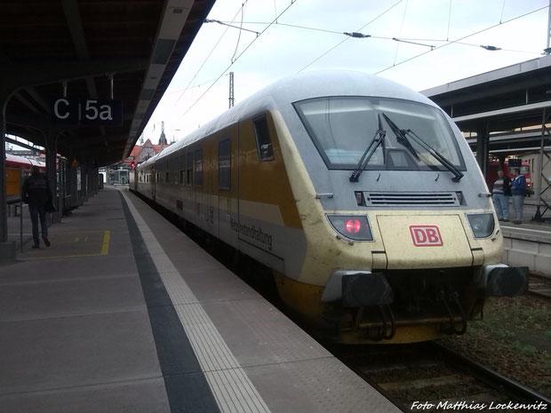 Fahrwwegemesssteuerwagen im Bahnhof Stralsund Hbf am 25.3.14