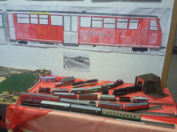 Lok &  Wagen  Ausstellungstisch