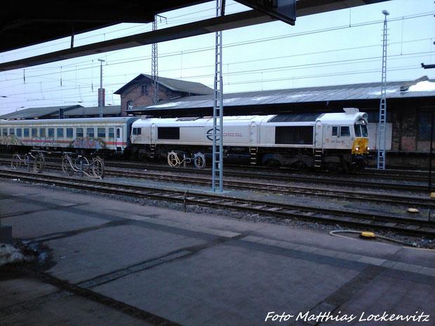 BR 247 (Class 77) Im Stralsunder hbf am 26.2.13